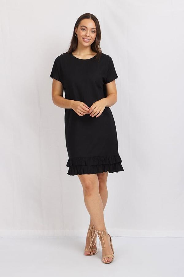 FRILL HEM T-SHIRT DRESS