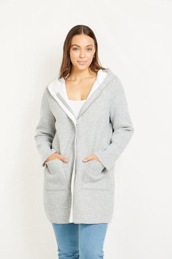 Front Zip Cozy Coat