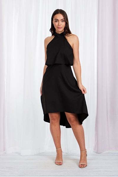 Halter neck midi dress