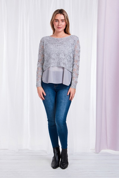 Knit Layered Pullover
