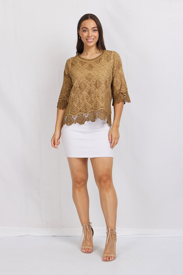 Lace and Embroidery Blouse