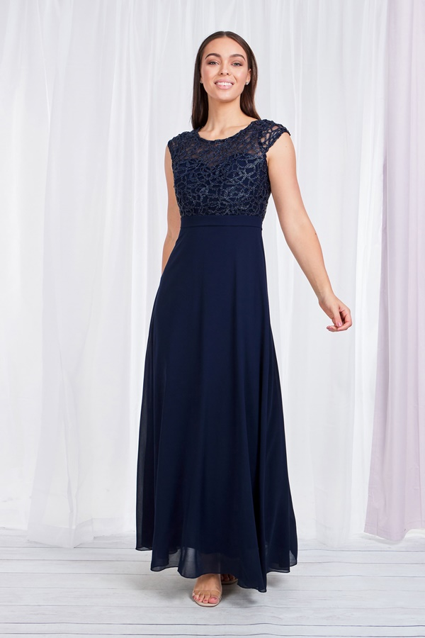 LACE BODICE FORMAL DRESS
