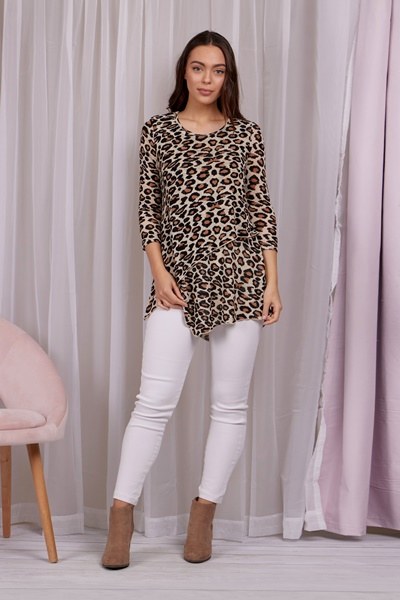 Leopard Double Layer Top