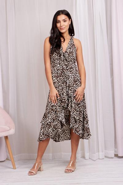 Leopard Hi Lo Dress