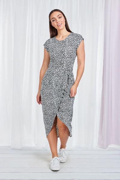 LEOPARD Tulip Hem Maxi Dress