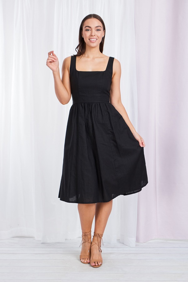 Linen Fit & flare sun dress
