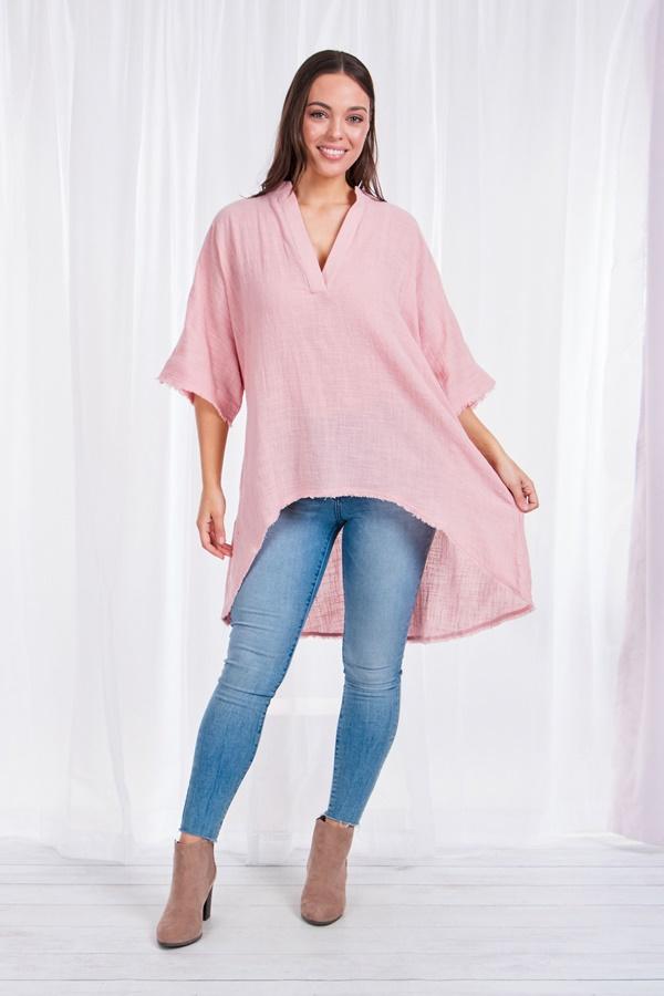 Linen Oversized top