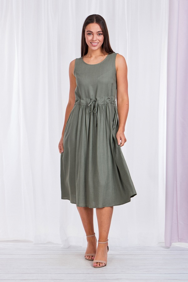 Linen Smock Dress