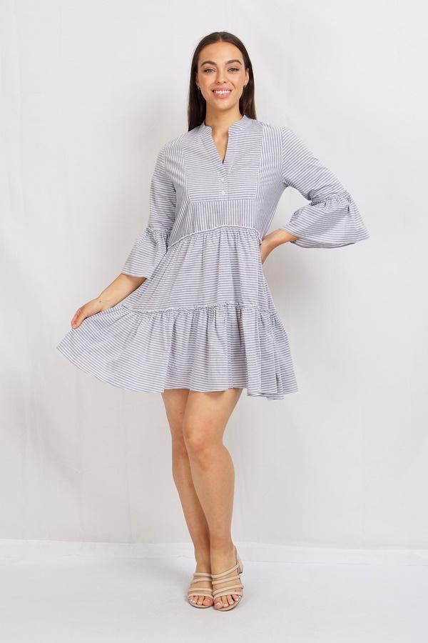 Linen Striped Smock Dress