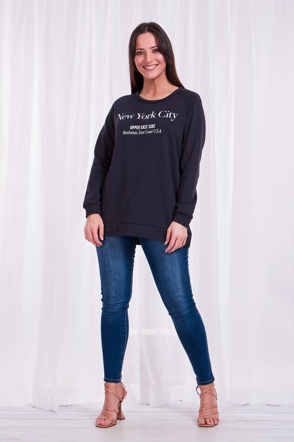 New york City Slogan Sweater