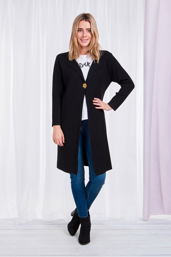 One-Button Cardigan