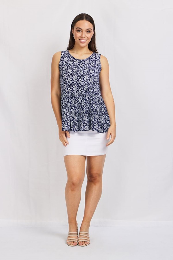 Paisley print Tiered TOP