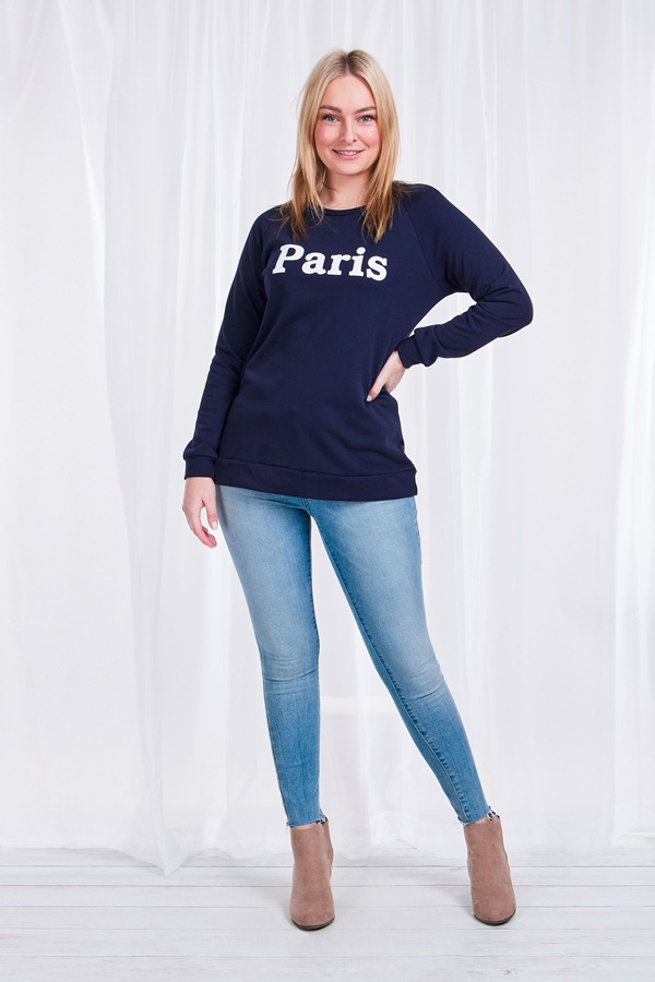 Paris Slogan Sweater