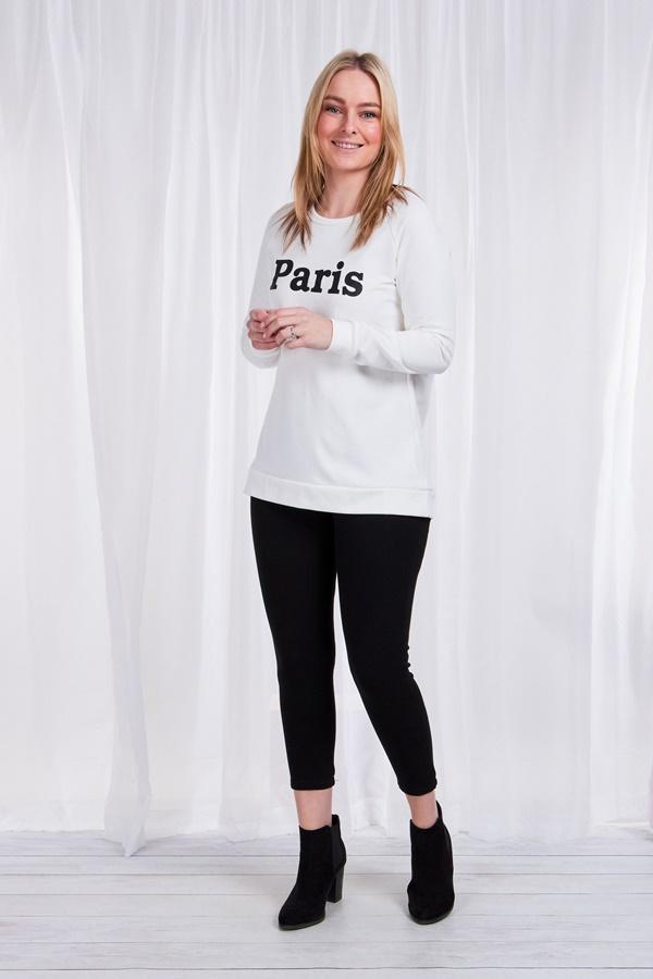 Paris Slogan Sweater