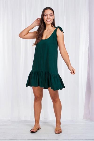 Peplum dress with shoulder ties