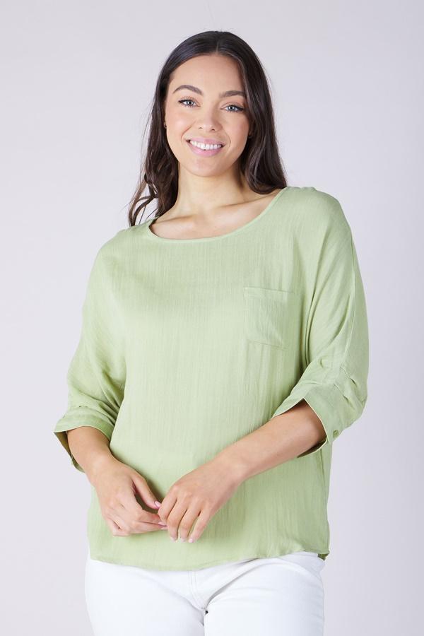 Pleat detail blouse
