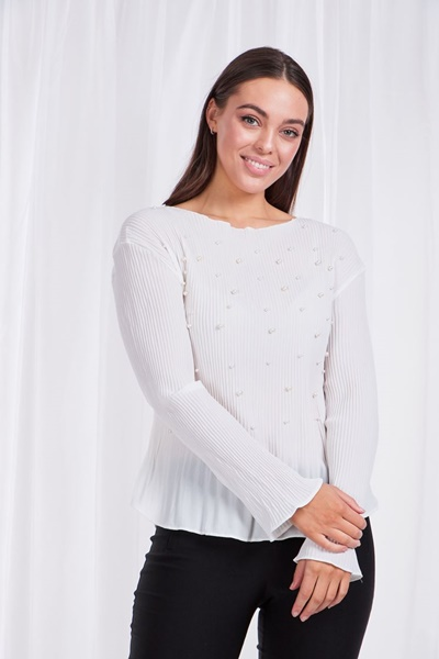 PLEATED PEARL TOP