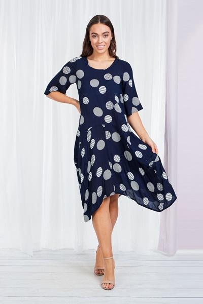 Polka dot tunic dress