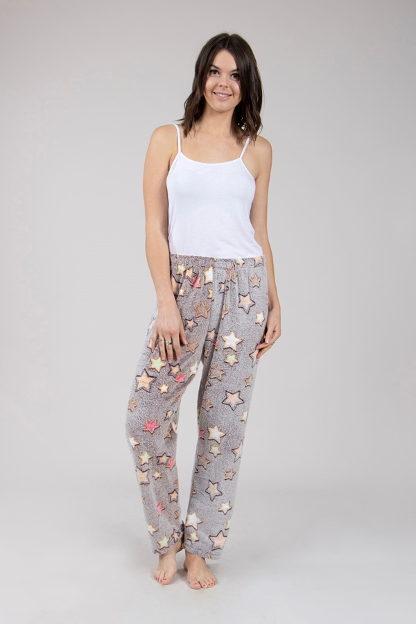 Printed Plush Pants