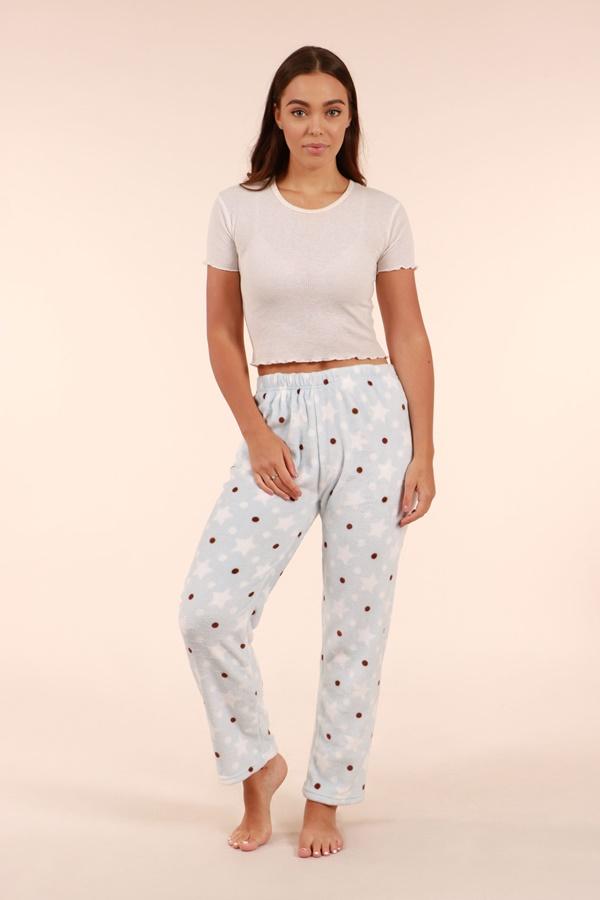 Printed Plush Pyjama Pants