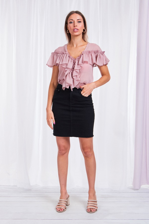 Ruffled Fitted Top