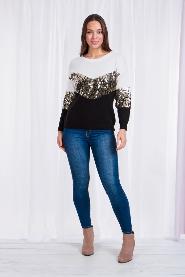Sequins detail Pullover