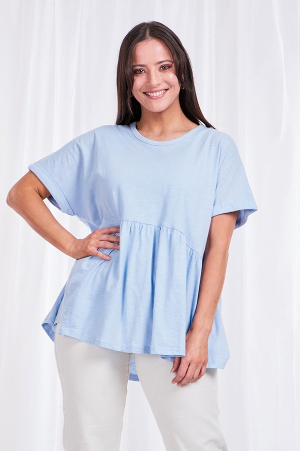 Solid SMOCK TOP