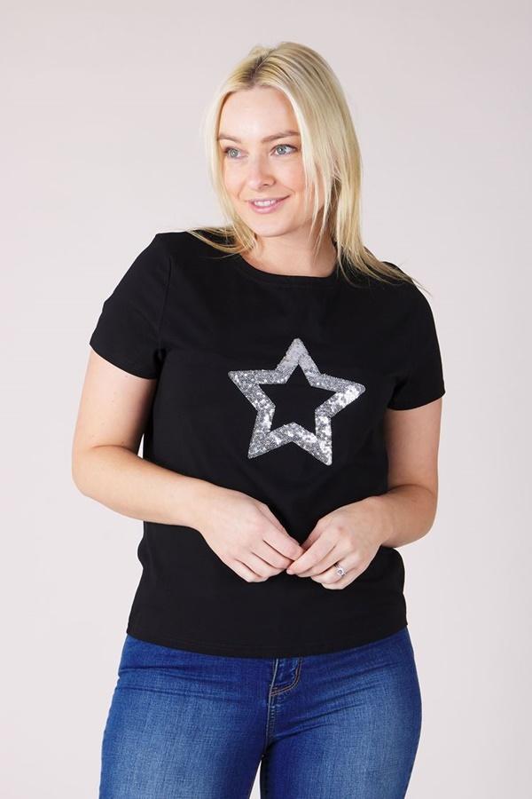 STAR EMBELLISHED TSHIRT