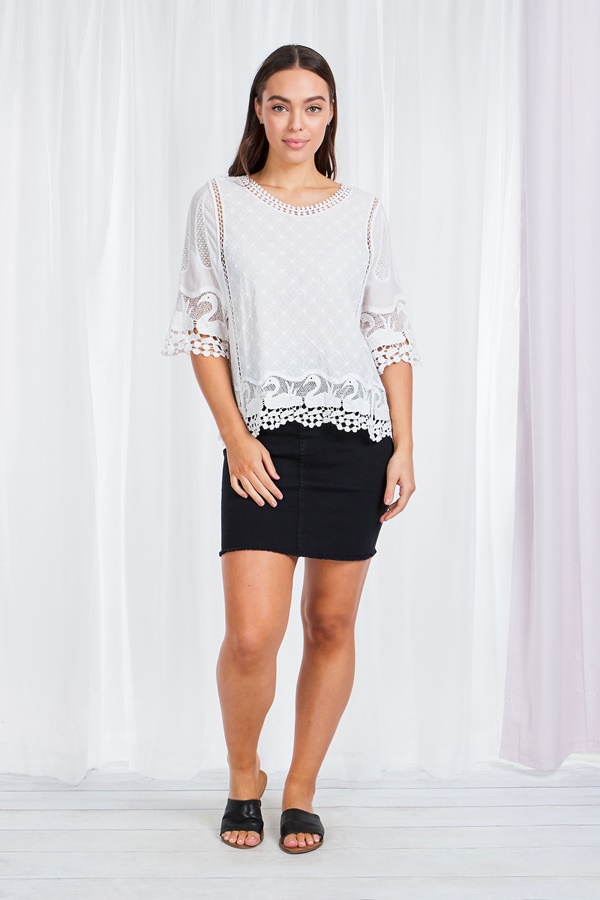 Swan Lace Blouse