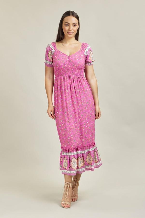 Sweetheart Boho Maxi Dress