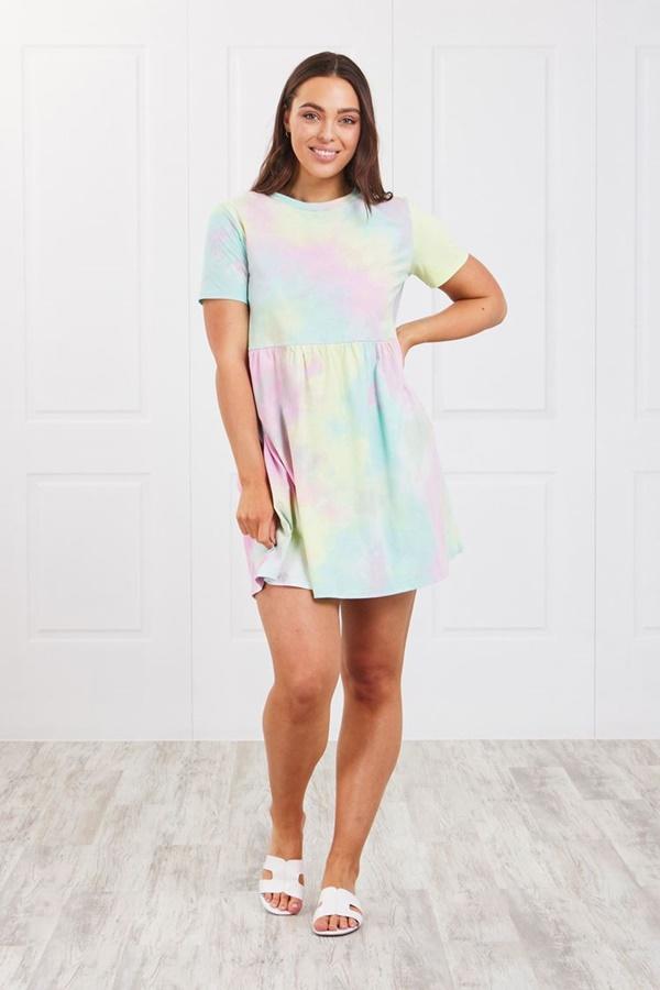 Tie-Dye babydoll dress