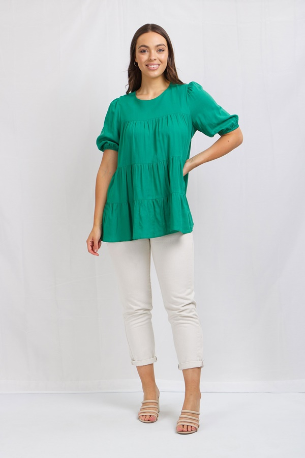 Tiered Smock Blouse