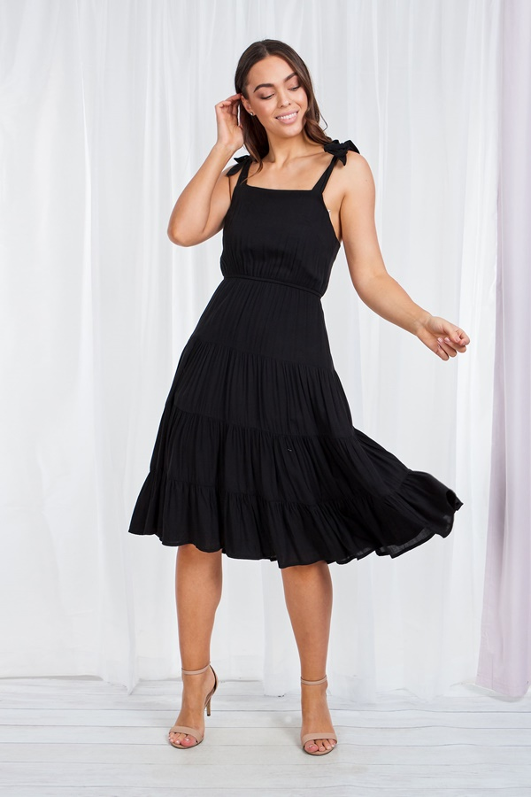 Tiered Tie shoulder dress