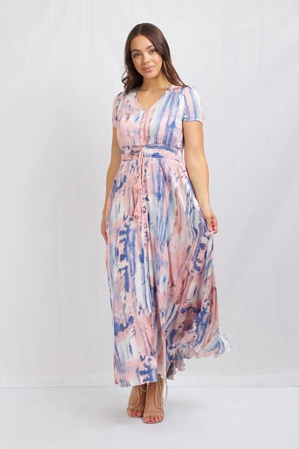 Tye Dye Print Dress