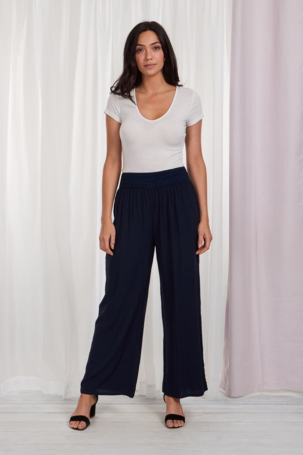 WIDE LEG CASUAL TROUSERS